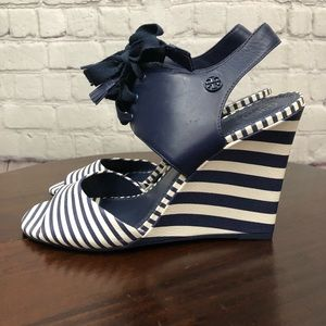 Tory Burch Maritime Lace-Up Wedge